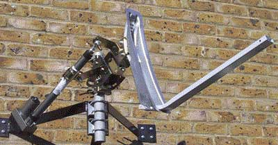 Satellite Dish, Actuator and Wall Mount